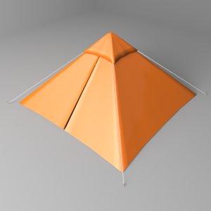 pyramid tent 3D model
