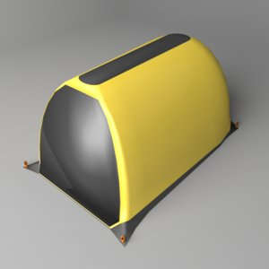 tunnel tent 3D model