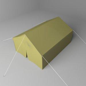 3D model wall tent