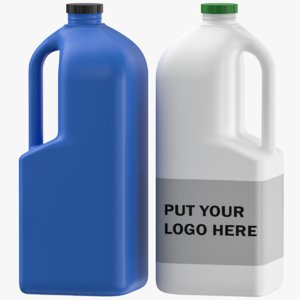 3D model editable label jerrycan
