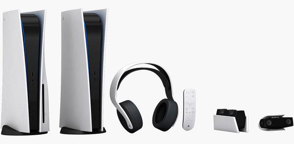 Realistic Playstation 5 Accessories 3d Model Turbosquid 1578129