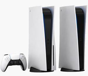 3D model realistic playstation 5 dualsense