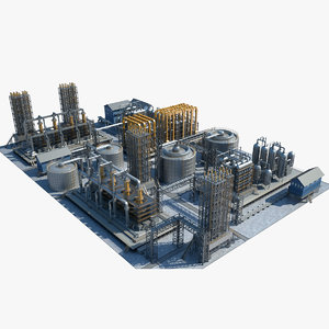 3D model industrial area 13