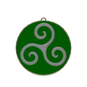 triskele symbol 3D