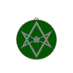 3D symbol unicursally hexagram model