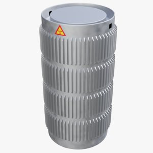 container spent nuclear fuel 3D model