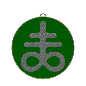 3D model satanic cross symbol