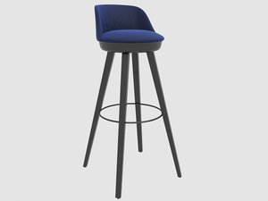 tommy stool frei frau 3D model