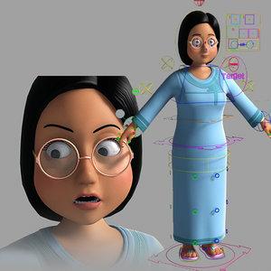 3D model middle east arabic cartoon character