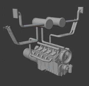 3D diesel engine y10