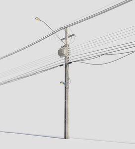 streetlight electrical pole 3D model