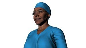 3D model nurse summer character animation