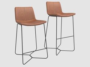 slope leather bar stool model
