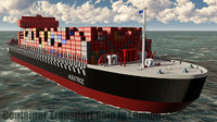 Container Ship Red