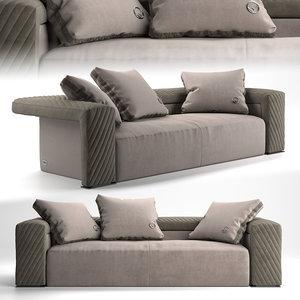 fendi casa bogart sofa 3D model