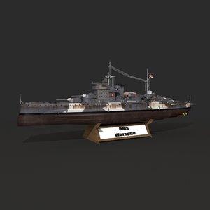 warspite battleship model
