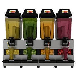 realistic juice dispenser 3D model