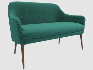 sofa charmy velvet green 3D model