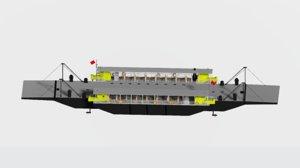ferry modulars 3D model