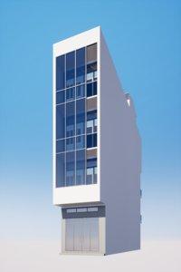 shophouse office building 3D