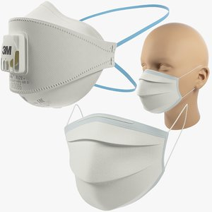 3D masks 3m medical model