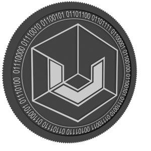 3D model universa black coin