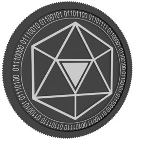 trustverse black coin 3D model