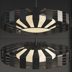 3D spoked saucer chandelier small model