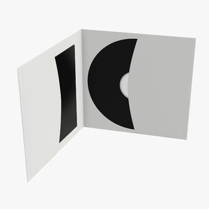 3D model envelope cd dvd