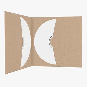 dvd paper brochure 3D model
