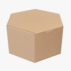 3D packaging corrugated cardboard model