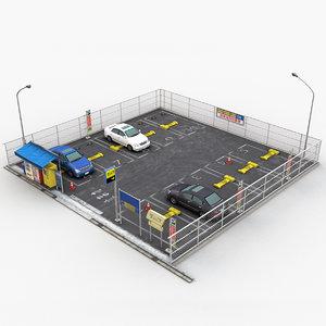 scene outdoor parking 3D model