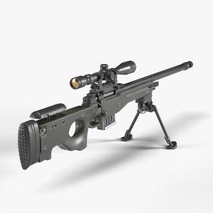 awp sniper rifle 3D model