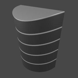 3D industrial dustbin