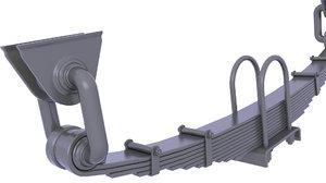 3D suspension leaf spring model