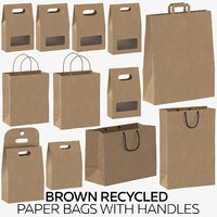 Brown Recycled Paper Bags with Handles
