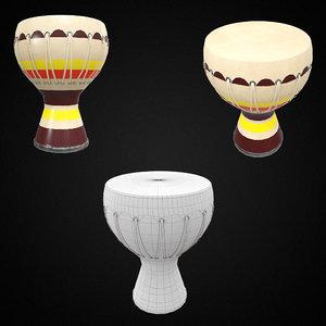bongo musical instrument pbr model
