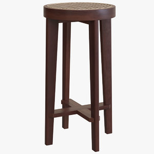 3D model bar stool cane seat