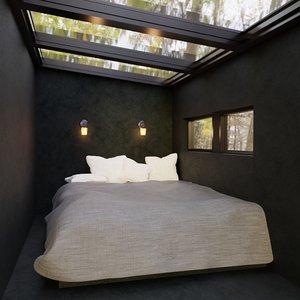 3D bedroom hidden room
