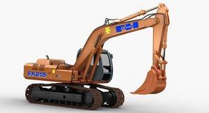 hitachi fh 200 digger 3D model