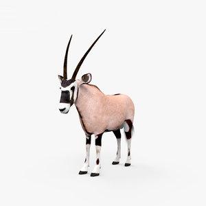 3D model oryx