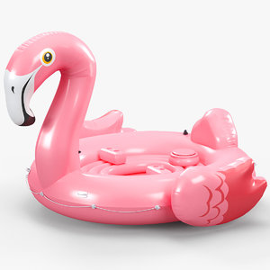 flamingo party island 3D model