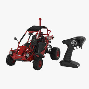 3D rc toy buggy car model