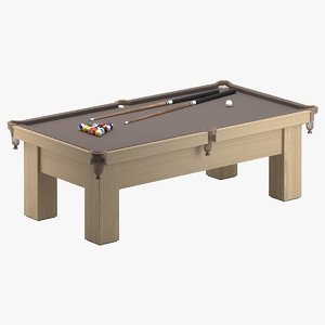 3D billiard table 02