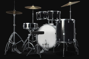 3D drum set kit model