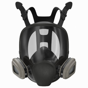 3D face reusable respirator model