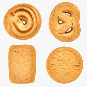danish butter cookies 3D