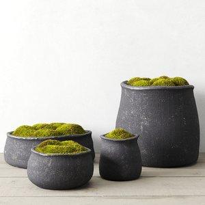 3D model crosshatch concrete vessels moss