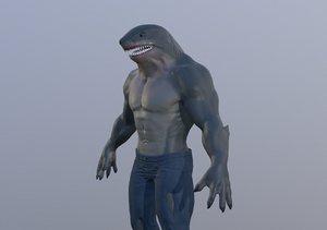 3D shark king