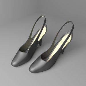 high-heeled shoe 2 model